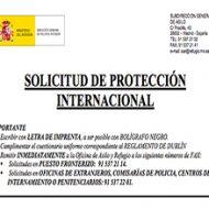 Solicitud de Protección internacional
