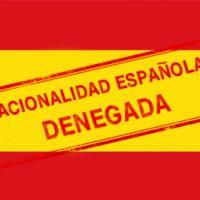 Denegación de nacionalidad española por residencia